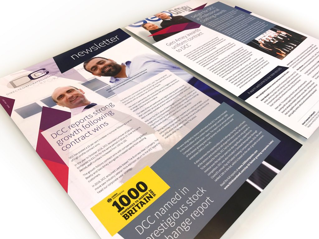 Corporate Newsletter Design